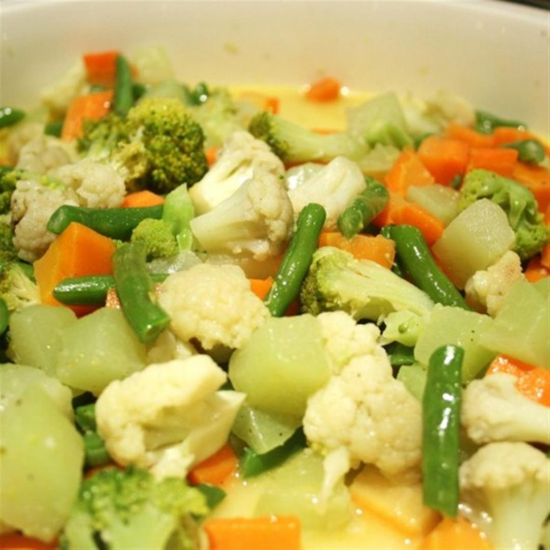Buttered Vegetables Recipe