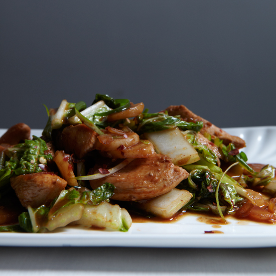 STIR-FRIED CHICKEN WITH BOK CHOY Recipe | Panlasang Pinoy Recipes