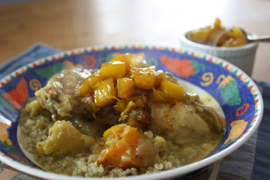 Chicken Curry with Mango Chutney