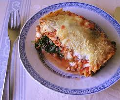 Lasagna with Red Sauce Made from Tomatoes, Pumpkins and Cauliflower