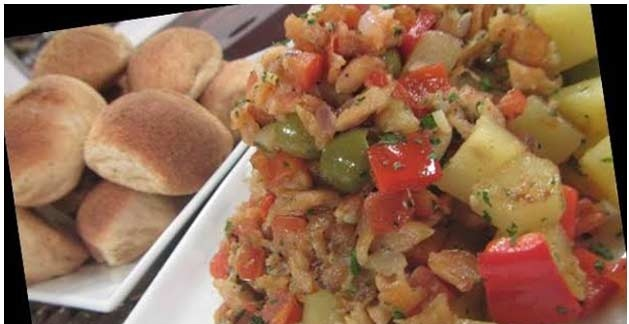 Bacalao (salted cod fish) with Malunggay Pandesal