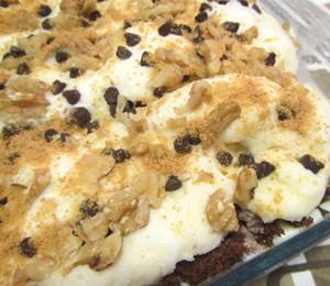 Brownies Icebox Cake