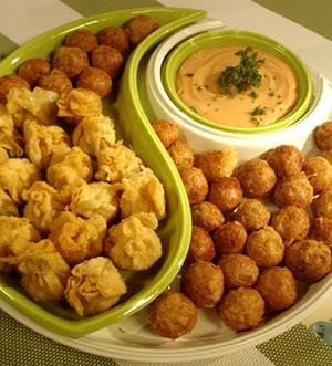Cheesy Tuna Dumplings