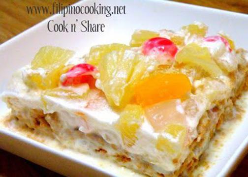 Refrigerator Cake Recipe Using Broas